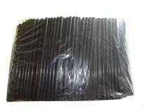Сламки прави черни 7мм x 500