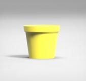 Саксия ф9 см - твърда /жълт/