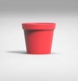 Саксия 90мм - твърда 10 бр. Червено