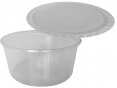 Round food container with cover 250ml / 100pcs